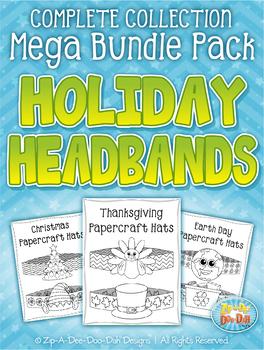 Holiday Papercraft Headbands / Hats Mega Bundle {Zip-A-Dee-Doo-Dah Designs}