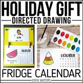 Holiday Parent Gift {Directed Drawing Fridge 2019 Calendar}
