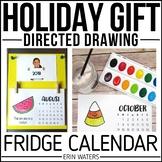 Holiday Parent Gift {Directed Drawing Fridge 2021 Calendar