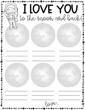 Holiday Parent Gift - Moon Phases Science Activity - Love You To The Moon