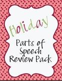 Holiday Parts of Speech Activities