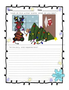 Holiday Parts of Speech and Writing Prompt FREEBIE
