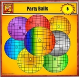 Holiday Party Balls Clip art from Charlotte's Clips
