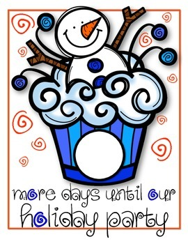 Holiday Party Countdown Classroom Sign *FREEBIE*