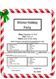 Holiday Party Letter (New)