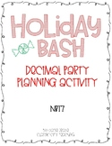Holiday Party Planning - Adding & Subtracting Decimals