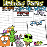 Holiday Party Sign Up Sheets