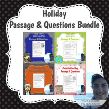 Holiday Passage & Questions Bundle