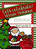 Holiday Passages: CCSS Aligned Leveled Passages & Activities A - I BUNDLE