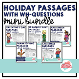 Holiday Passages with WH-Questions: Mini Bundle
