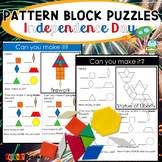 Holiday Pattern Block Mat Puzzles Independence Day
