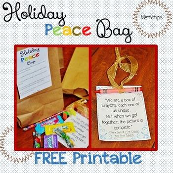 Holiday Peace Bags FREEBIE