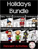 Holiday Pennant Activity Bundle