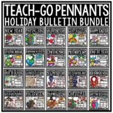 Holiday Writing Teach- Go Pennants™ BUNDLE for Entire YEAR