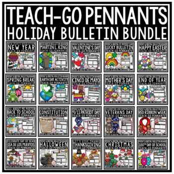 Holiday Activities Writing Prompts 3rd Grade 4th Grade Bundle Teach- Go Pennants