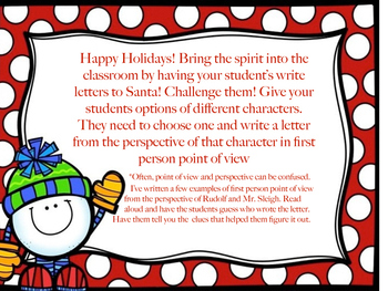 Holiday Perspective Writing