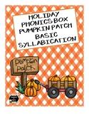 Holiday Phonics Box - Pumpkin Patch - Basic Syllabication