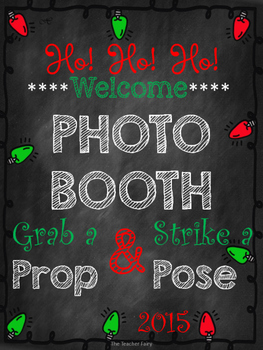 Holiday Photo Booth Props