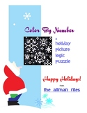 Holiday Picture Logic Puzzle: Color By Number