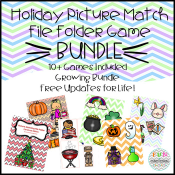 Holiday Picture Match File Folder Game BUNDLE! - FREE UPDATES FOR LIFE