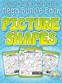 Holiday Picture Shapes Clipart Mega Bundle {Zip-A-Dee-Doo-Dah Designs}