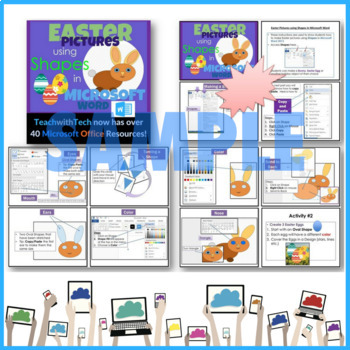 Holiday Pictures Bundle using Shapes in Microsoft Word