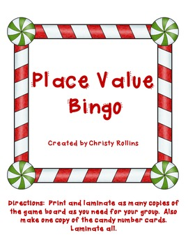 Holiday Place Value Bingo
