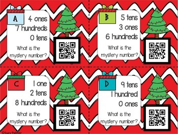 Holiday Place Value Math Centers: 3 CCSS aligned task card sets