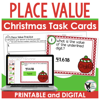 Holiday Place Value Task Cards