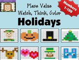 Holiday Place Value Watch, Think, Color Bundle