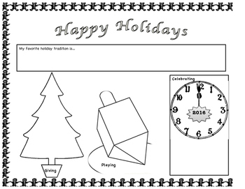Holiday Placemat with Sharing Family Traditions Lesson Plan