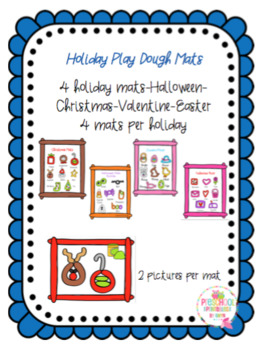 Holiday Play Dough Mats