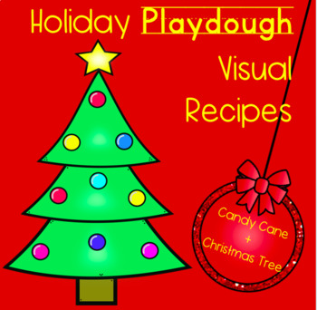 Holiday Playdough Visual Recipes