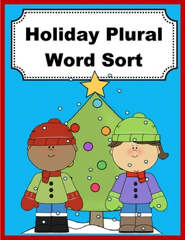 Holiday Plural Sort Activity