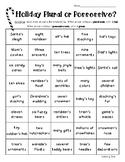Holiday Plural vs. Possessives Color Sorting Worksheet