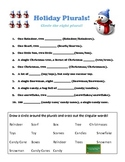 Holiday Plurals Packet!