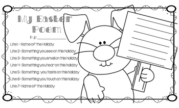 Holiday Poem Pack Template