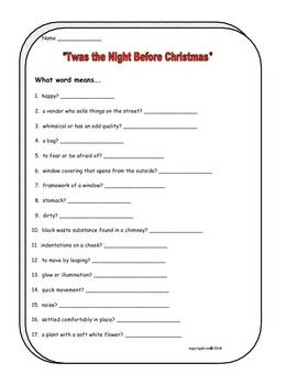 Holiday Poem Twas the Night