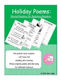 Holiday Poems: Shared Reading for Beginning Readers