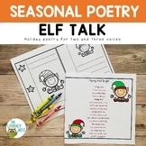 Fluency: Elves | December Poems Practice Literacy Activity