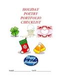 Holiday Poetry Portfolio Checklist