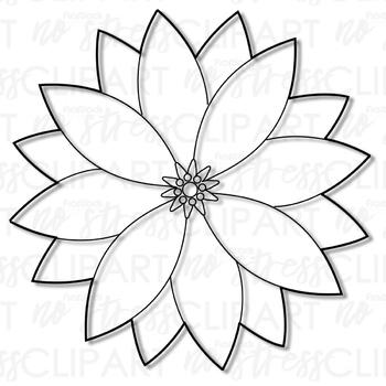 Holiday Poinsettia Clip Art (Digital Use Ok!)