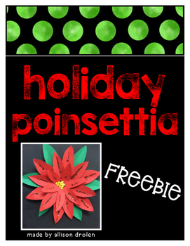 Holiday Poinsettia Freebie