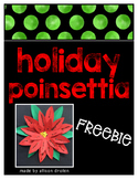 Holiday Poinsettia Freebie
