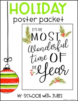 Holiday Poster Packet