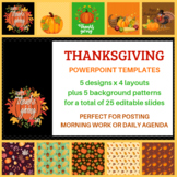 Holiday PowerPoint:  Thanksgiving | Morning Work or Daily Agenda Templates