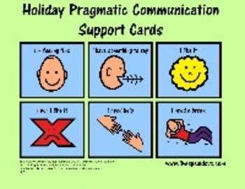 Holiday Pragmatic/Functional Communication Visual