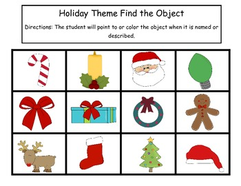 Holiday Pre-K Language Packet