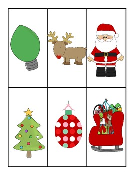 Holiday Pre-K vocabulary pictures