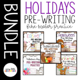 Holiday Pre-writing Practice Bundle